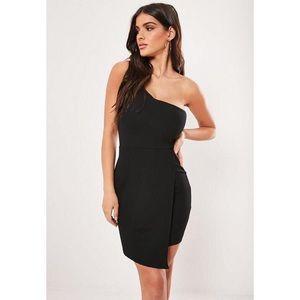 Missguided Dresses - Missguided One Shoulder Wrap Hem Dress